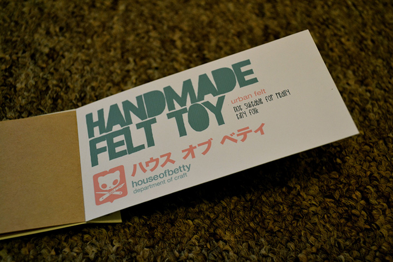 Handmade Felt toy Label